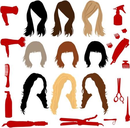 peigne et ciseaux: accessoires de coiffure
