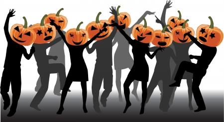 citrouille halloween: Parti-Halloween Illustration