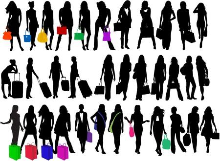 fashionable women going shopping