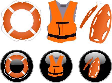 Llife jacket ,life buoys Vector