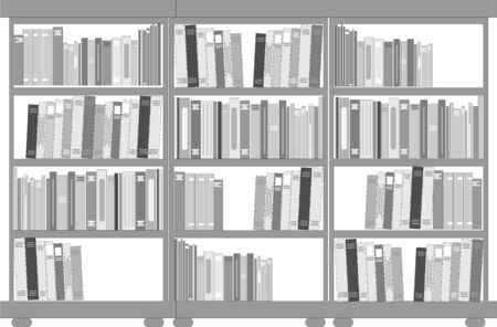Set of bookcases and shelves Vector
