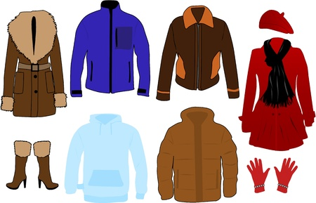 Winter clothes Stock Vector - 14850809