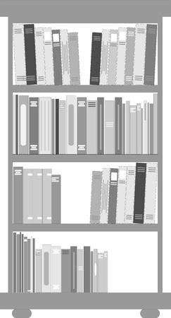 boekenplank Stock Illustratie