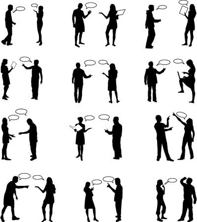 black lady talking: Dialog People - work