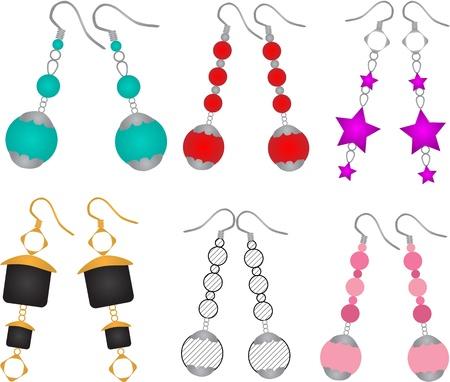 earrings Vettoriali
