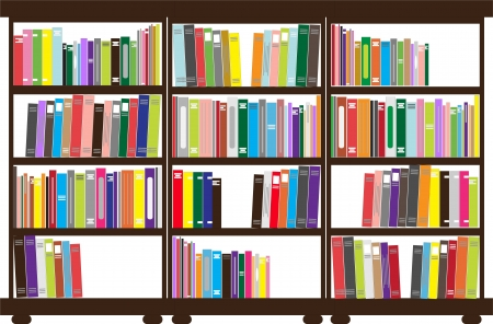 bookshelves: bookshelf Illustration