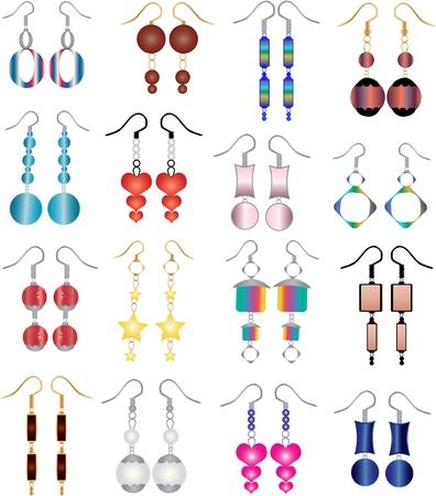 earrings: earrings Illustration