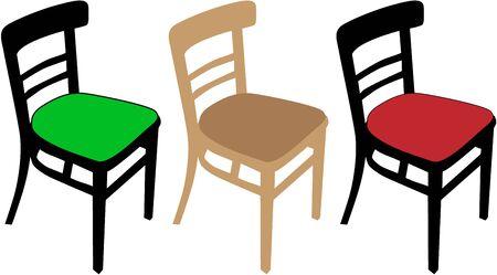 industrial decor: Retro chair Illustration