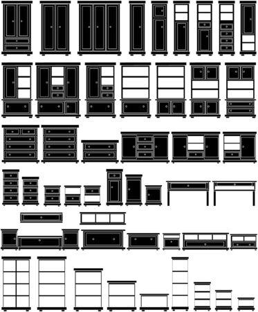 furniture set Stock Vector - 16259752