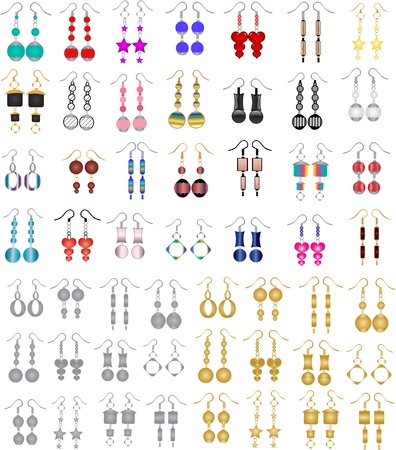 earrings Ilustrace