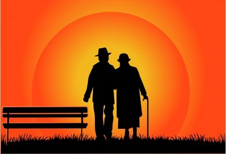 human age: Senior Couple  Illustration