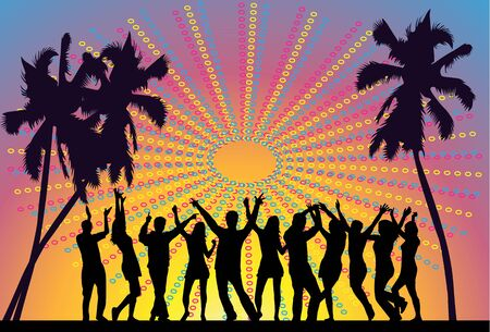 dance shadow: party people Illustration