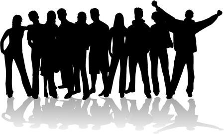 pessoas: Grupo de pessoas Ilustra��o