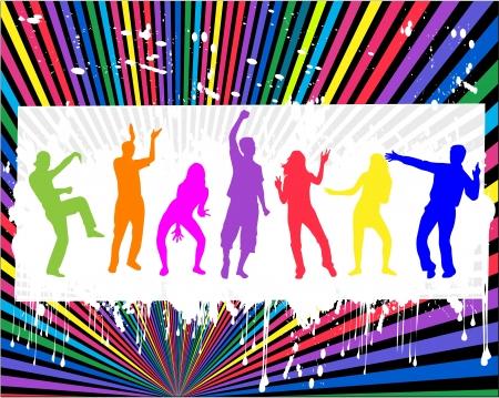 dancing people Vetores