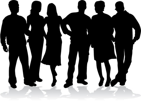 Groep mensen Stockfoto - 16259764