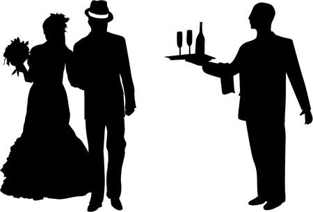marriage proposal: Married Couple - vector illustration