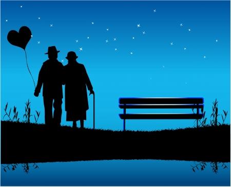 Romantische avond Stockfoto - 16473360