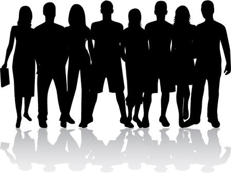 Gruppe von Menschen Standard-Bild - 16473324