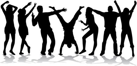 dance shadow: party people dancing