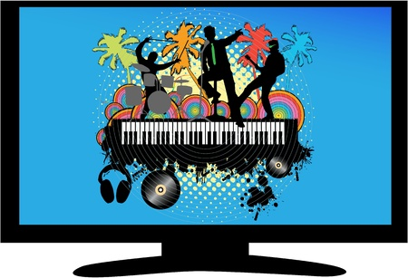 Music Concert on TV Vector