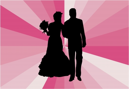 plight: Married Couple - vector illustration