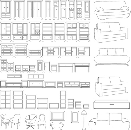 furniture set Ilustrace