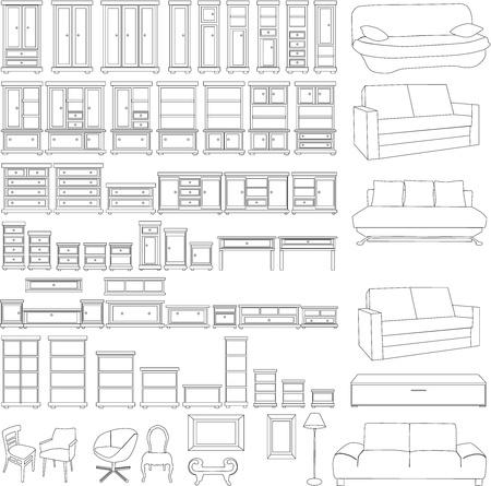 kleedkamer: meubelen set