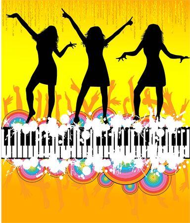 disco dancer: dancing peoples