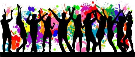 Party-grunge achtergrond Stockfoto - 16556832
