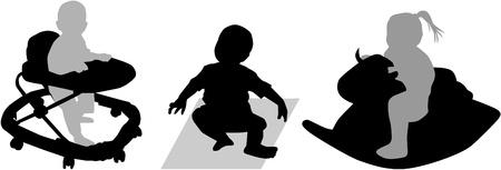 Babies  at play Vector