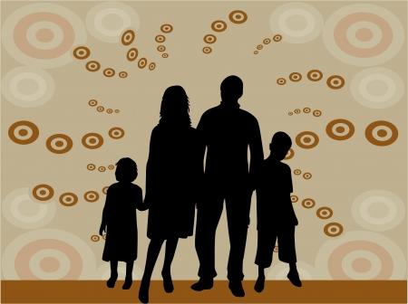 illustratie van familie silhouetten