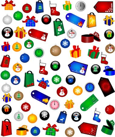 Christmas Decorations -big collection  Stock Vector - 16556840
