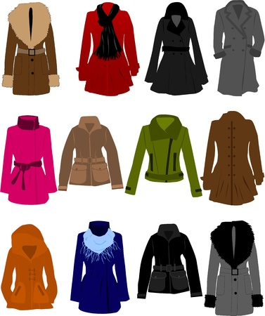 dressy: vector collection of clothes  Illustration