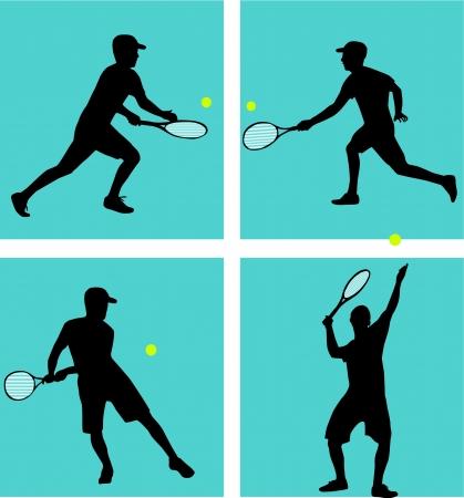 tennisball: Tennis Player  Illustration