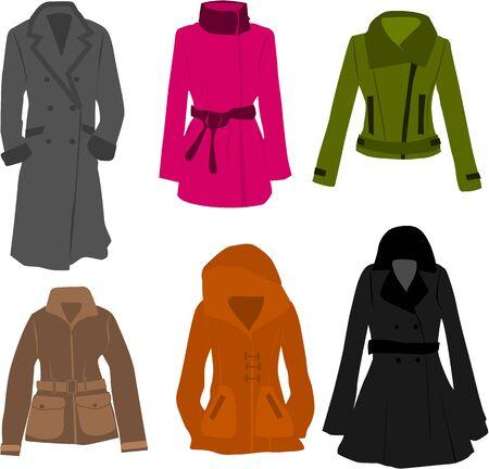kurtka: wektor kolekcja ubrań