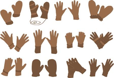 leather gloves: gloves - Vector