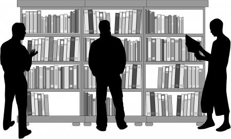 Reading room Stock Vector - 16701718