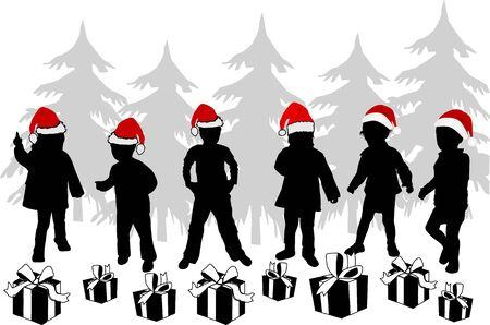 dance shadow: Gifts for Kids - Christmas time Illustration