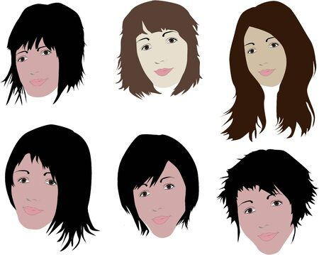 Face and hair Illustration