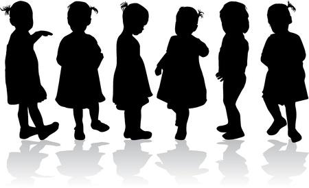 kinder: Silhouettes of children