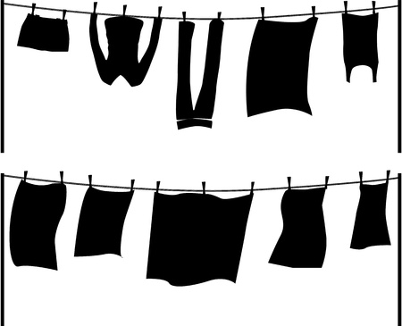 clothes line: washing