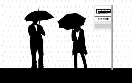 bus stop: Bus stop Illustration