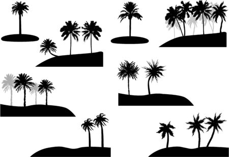 set of palm tree Stock Vector - 17211105