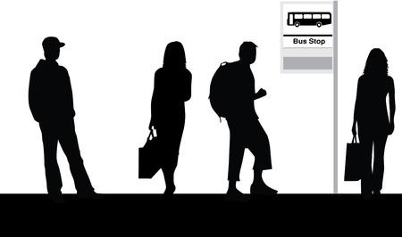 Bus stop Vectores