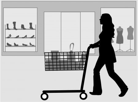 A woman shopping Vector