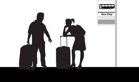 Bus stop Ilustracja