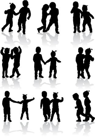 niños caminando: ilustración vectorial de los niños Vectores