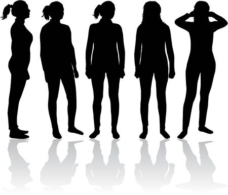 one woman: Women silhouette Illustration