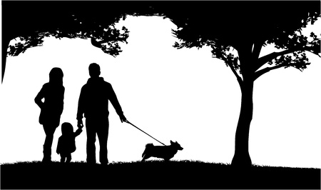 Family silhouette Stock Vector - 17566214