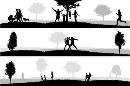 Openluchtrecreatie illustratie Stock Illustratie